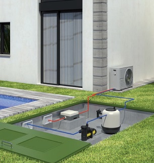 Circuito Bomba de calor para piscinas CRAD Daitsu