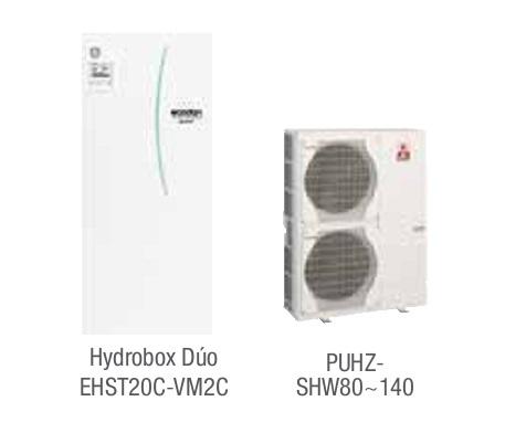 Combinacion ECODAN SPLIT - PUHZ-SHW  con Hidrobox Duo Calefacción