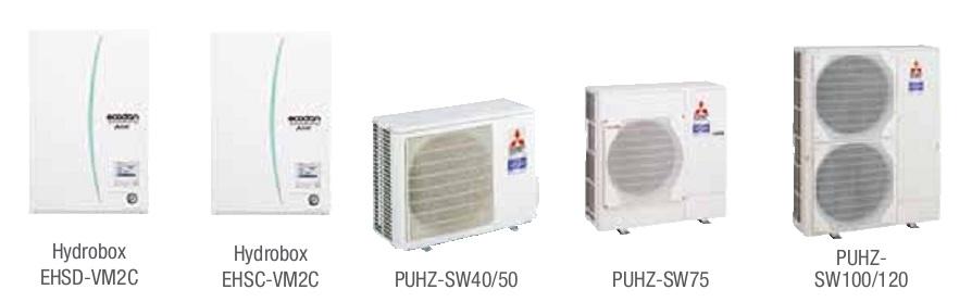 Combinacion ECODAN SPLIT - PUHZ-SW  con Hidrobox Calefacción