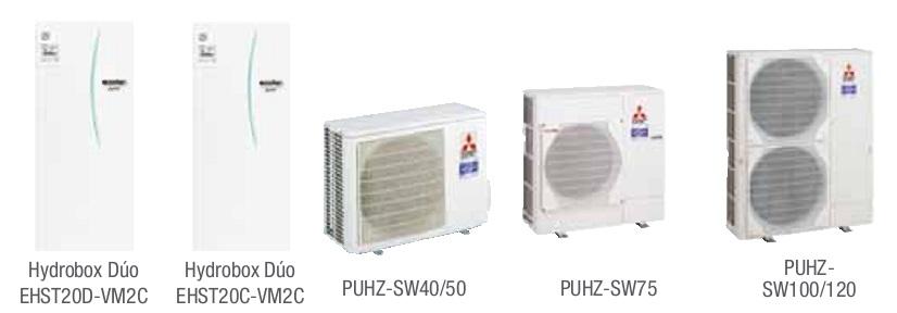 Combinacion ECODAN SPLIT - PUHZ-SW  con Hidrobox Duo Calefacción