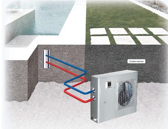 Bomba de calor para piscinas htw lrsj80nyn1a1 for Bomba de calor piscina
