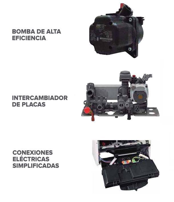 Caldera Ariston Clas Premium EVO EXT - Componentes