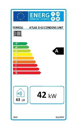 Caldera Ferroli ATLAS D 42 CONDENS UNIT - Etiqueta energetica
