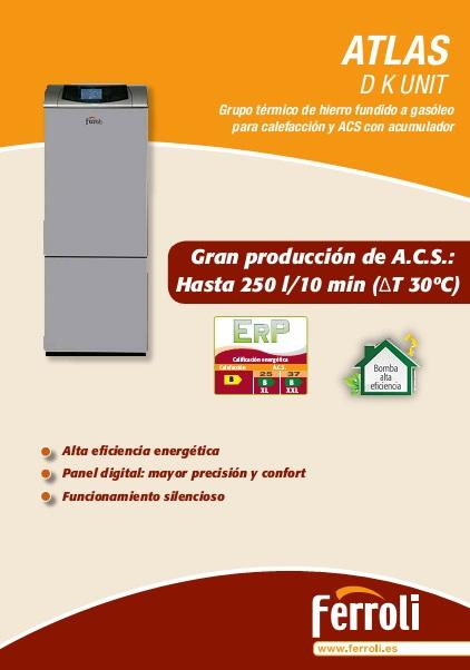 Caldera Ferroli ATLAS D K UNIT -Catalogo comercial