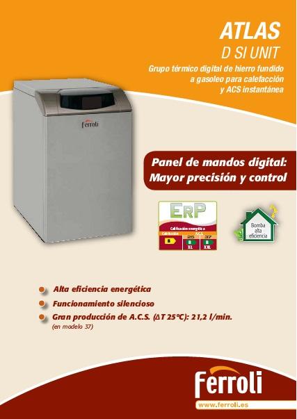 Caldera Ferroli ATLAS D SI UNIT -Catalogo comercial
