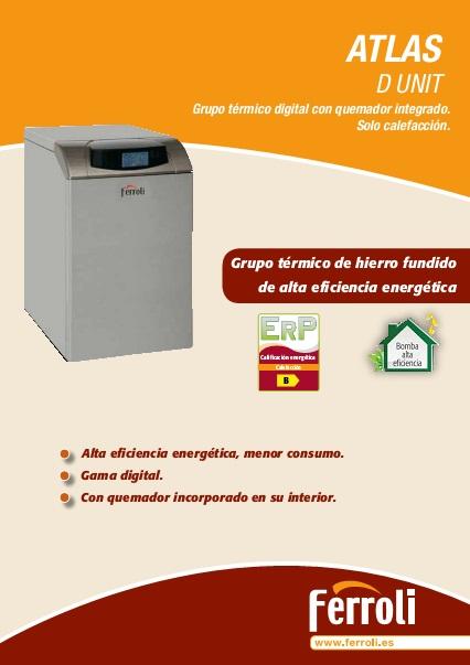 Caldera Ferroli ATLAS D UNIT - Catalogo comercial