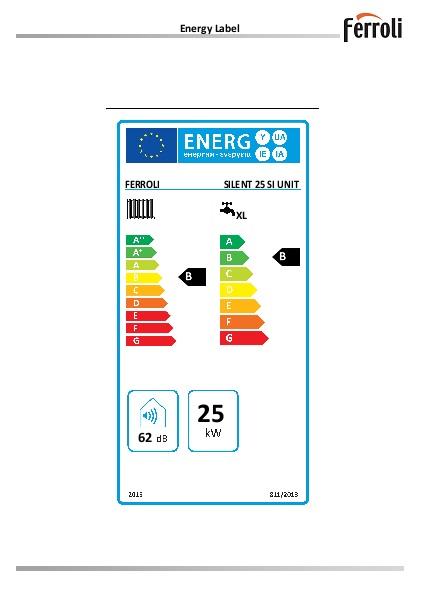 Caldera Ferroli SILENT 25 SI UNIT - Etiqueta-Energetica