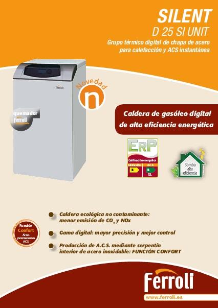 Caldera Ferroli SILENT D 25 SI UNIT - Ficha comercial