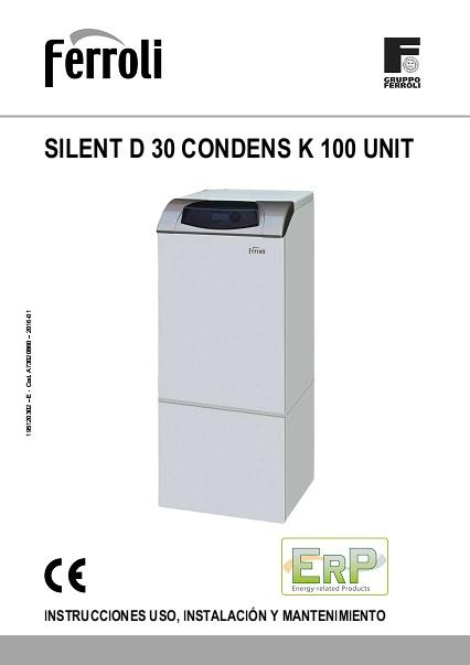 Caldera Ferroli SILENT D CONDENS 30 K 100 UNIT - Manual de uso