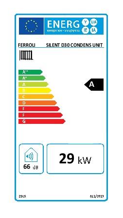 Caldera Ferroli SILENT D CONDENS 30 UNIT - Etiqueta energetica