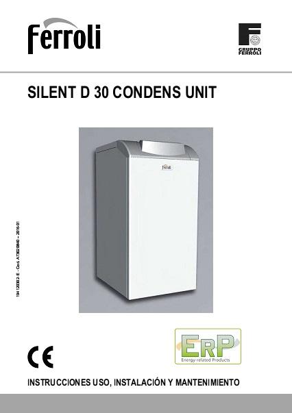 Caldera Ferroli SILENT D CONDENS 30 UNIT - Manual de uso