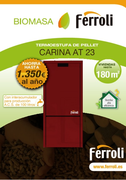 Caldera de Pellets Ferroli CARINA AT 23 - Catalogo