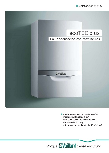 Catalogo Caldera Vaillant ecoTEC plus