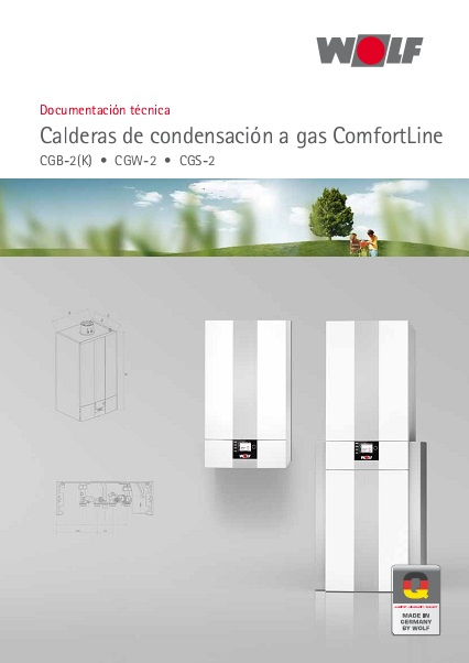 Catalogo comercial Caldera de pie de condensación a gas Wolf CGS-2 CGW-2