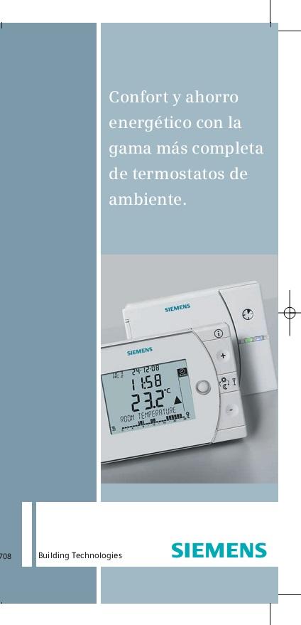 Catalogo comercial Termostatos de ambientes Siemens