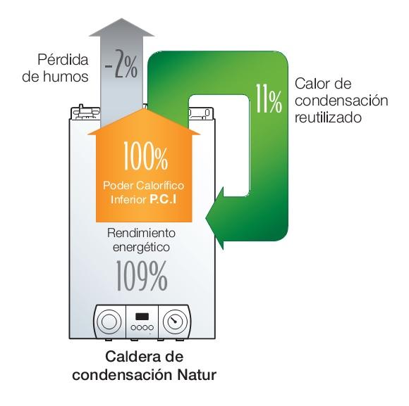 Condensación Caldera Fagor Natur