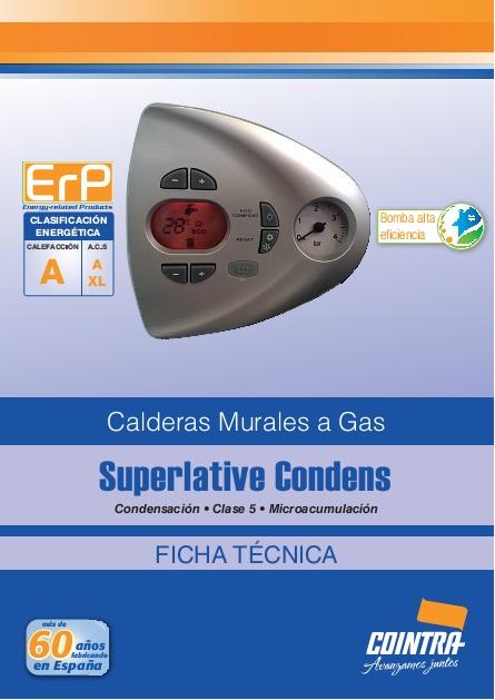 Ficha de Producto Caldera Cointra SUPERLATIVE CONDENS