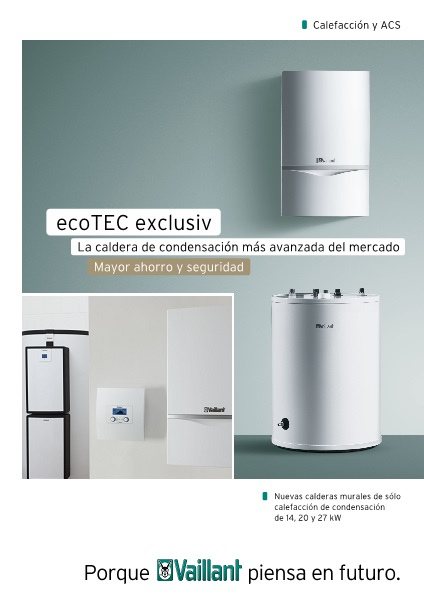 Folleto Caldera Vaillant ecoTEC EXCLUSIV