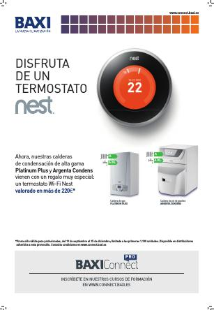 Folleto Calderas Baxi  termostato NEST