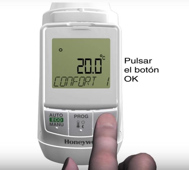 Funciones Controlador electrónico de radiador Honeywell HR90