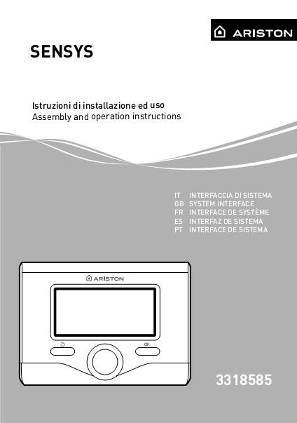 Instrucciones Termostato Centralita Ariston SENSYS