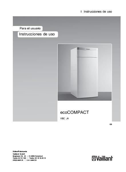 Instrucciones de Uso - Calderas Vaillant ecoCOMPACT