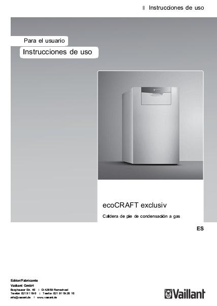 Instrucciones de uso Caldera Vaillant ecoCRAFT EXCLUSIV