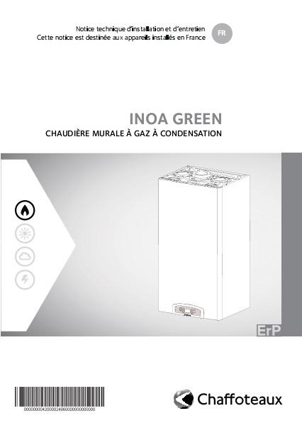 Manual Instalación de Caldera Chaffoteaux INOA GREEN