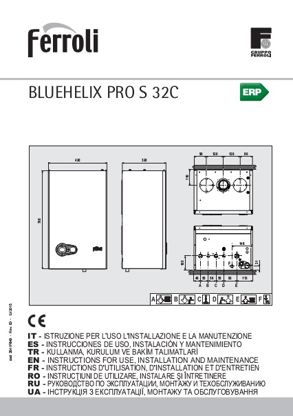 Manual Instrucciones BLUEHELIX PRO S 32 ErP