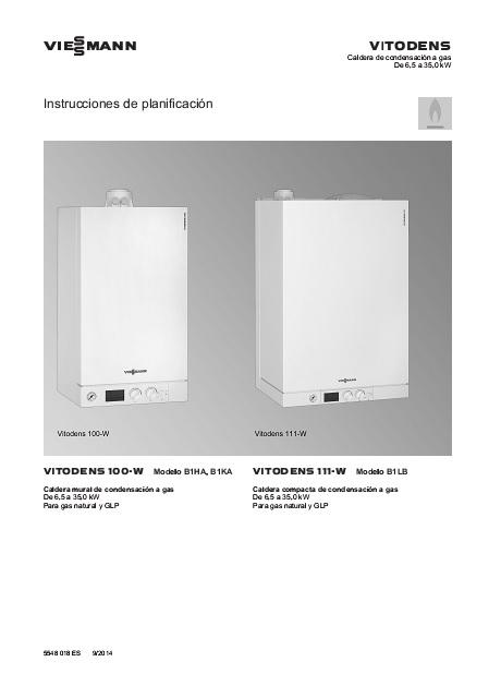 Manual Técnico - Caldera a gas de Condensación Viessman Vitodens 100-W B1KA
