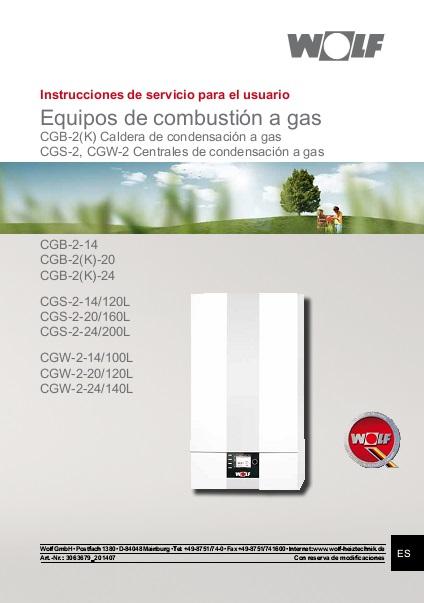 Manual Usuario Caldera Wolf CGB-2K