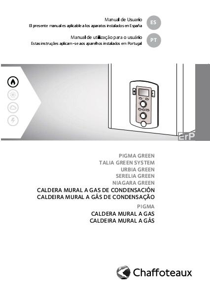 Manual de Usuario Caldera Chaffoteaux NIAGARA C GREEN