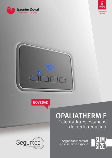 Catalogo comercial Calentador Saunier Duval OPALIATHERM F Slim
