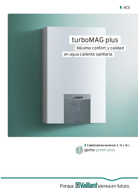 Catalogo comercial Calentador Vaillant turboMAG Plus