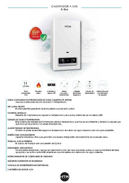 Ficha producto Calentador-HTW-Serie-EVO