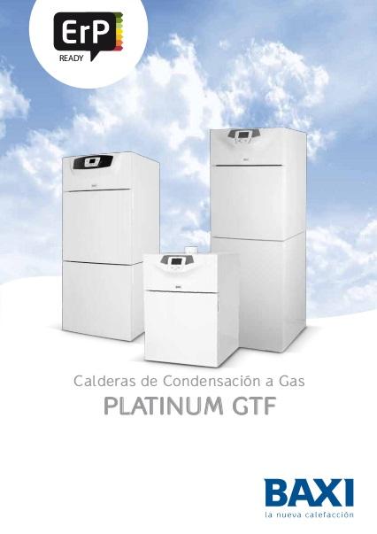 Catalogo comercial Caldera a Gas de pie Baxi Platinum GTF