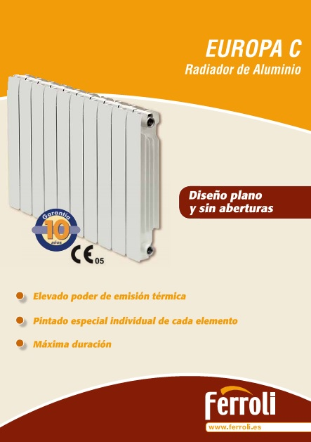 Catalogo comercial Radiadores Ferroli EUROPA C