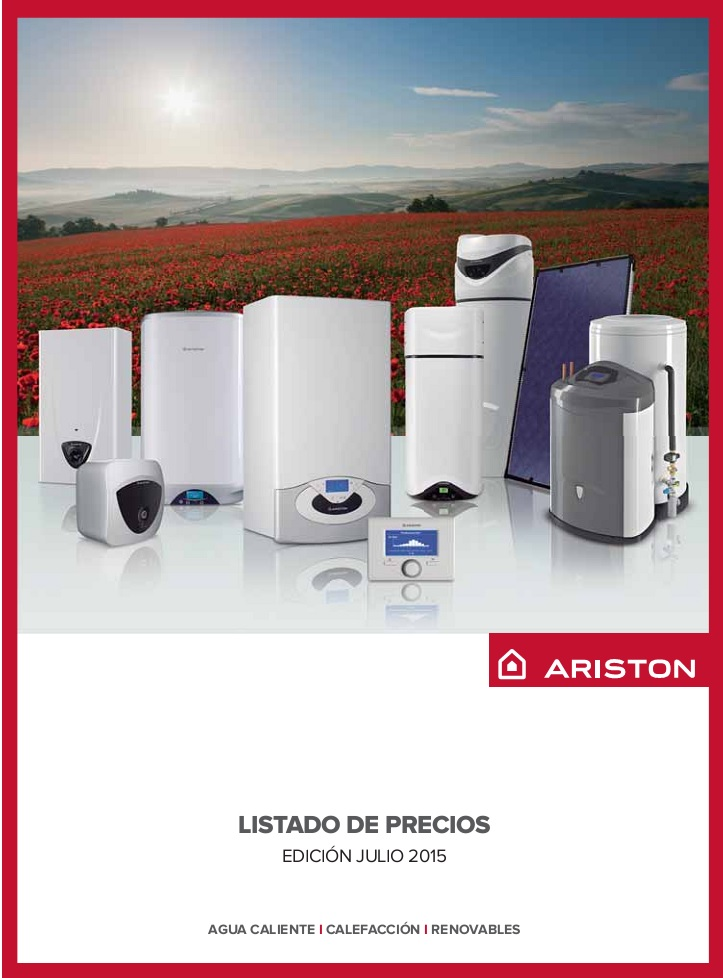 Catalogo tarifa Ariston 2015