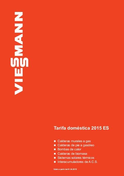 Catalogo tarifa Viessmann 2015