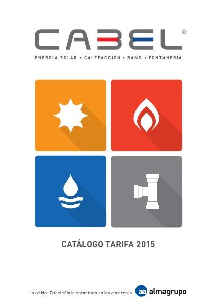 Catalogo tarifa CABEL 2015