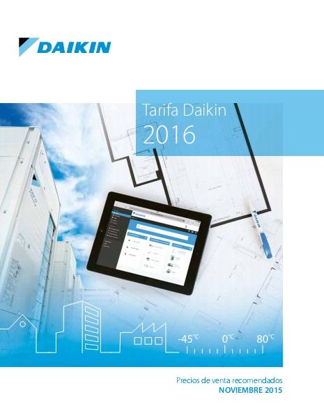 Catalogo tarifa Daikin 2016