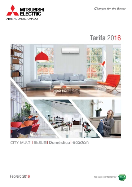 Catalogo tarifa Mitsubishi electric 2016