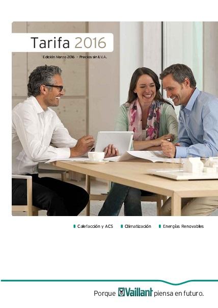 Catalogo tarifa Vaillant 2016