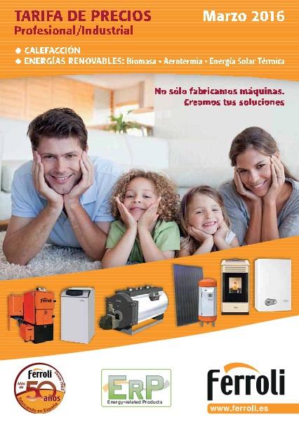 Tarifa Calefaccion y Energias Renovables Ferroli 2016