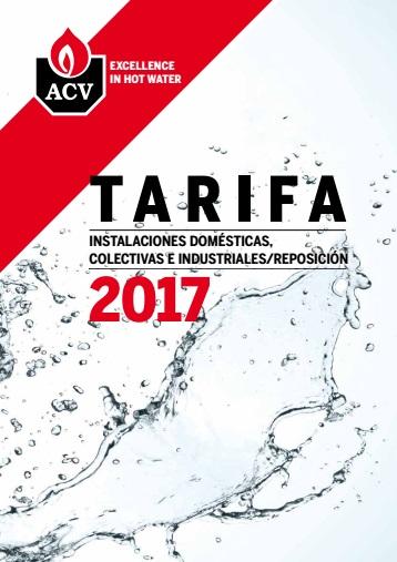 Catalogo tarifa ACV 2017