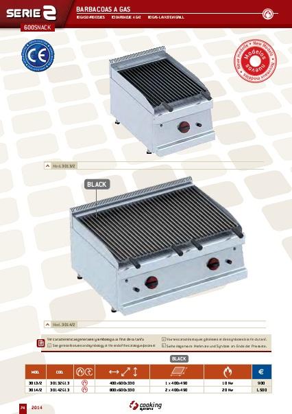Catalogo comercial Barbacoas a gas EURAST Gama 600Snack