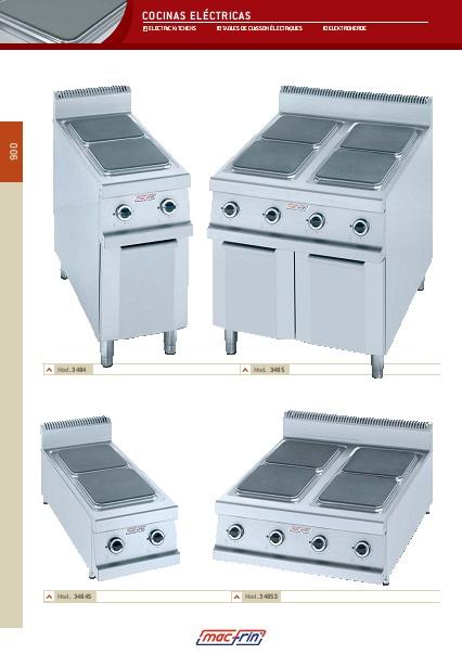 Catalogo comercial Cocinas eléctricas Gama 900