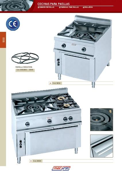 Catalogo comercial Cocinas para paellas a gas Gama 900