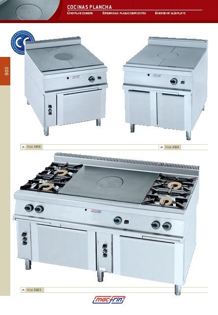 Catalogo comercial Cocinas plancha a gas Gama 900