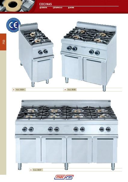 Catalogo comercial Eurast Cocinas Gama 750